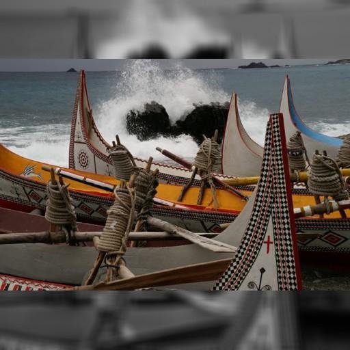 タオ族の伝統木造船@蘭嶼島