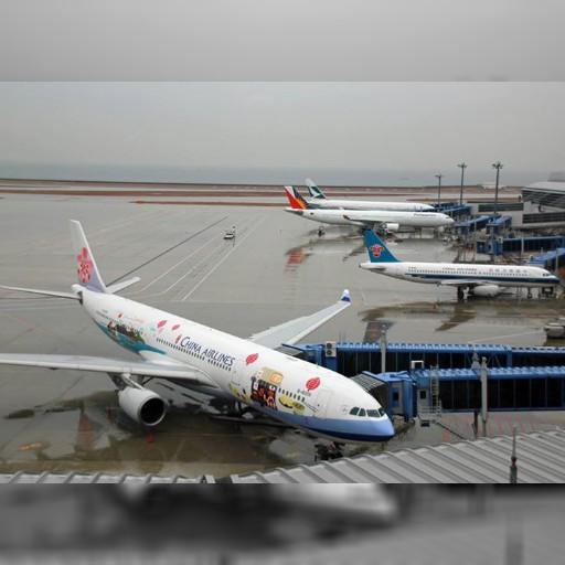 中華航空の特別塗装機「Time for Taiwan Express」。