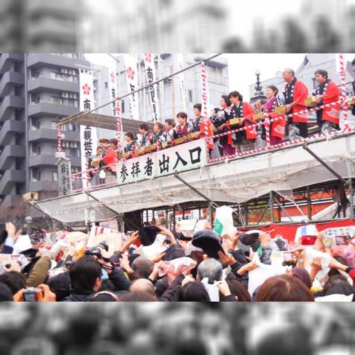 2014名古屋大須觀音,撒豆祈福迎新春!