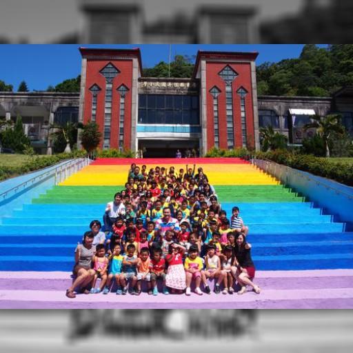 山間部の小学校に輝く「虹の階段」お目見え 子どもら大喜び/台湾・屏東 | 社会 | 中央社フォーカス台湾
