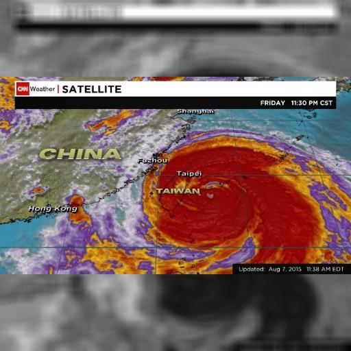 台風13号が台湾に上陸、8日午後には中国に