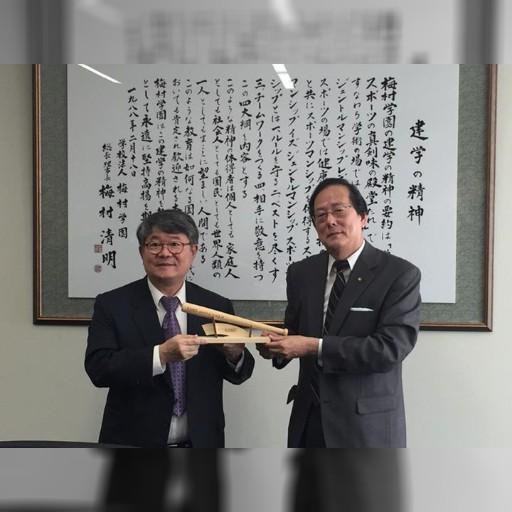 中京大学に嘉義市の侯崇文副市長はじめ、嘉義市の幹部が来ました。